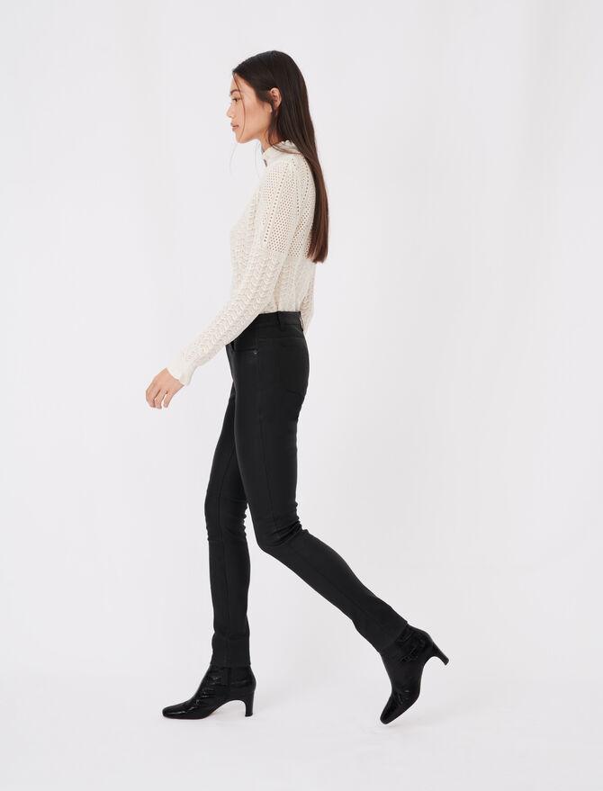 Pantalon cigarette en cuir d'agneau - Pantaloni e Jeans - MAJE