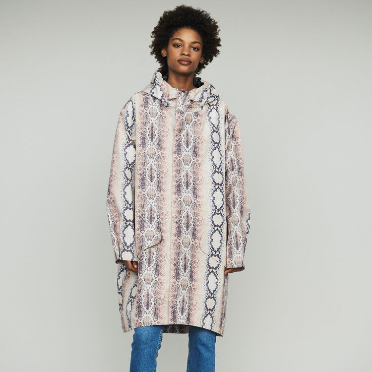 Giacca a vento con stampa animalier : Cappotti e Giubbotti colore IMPRIME