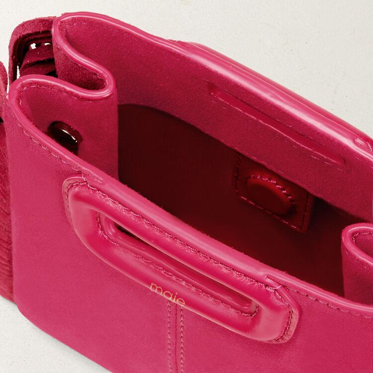 M mini borsa con frange in pelle : Borse M colore Rosa