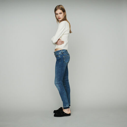 Jeans slim in cotone stretch : Jeans colore Denim
