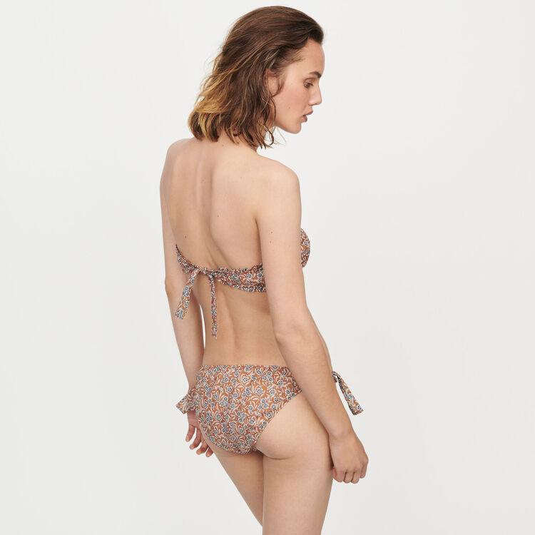 Reggiseno e culotte floreale in cotone : Tutta la collezione colore Terracotta