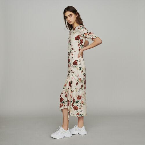 Vestito lungo a stampa floreale : Vestiti colore Stampato