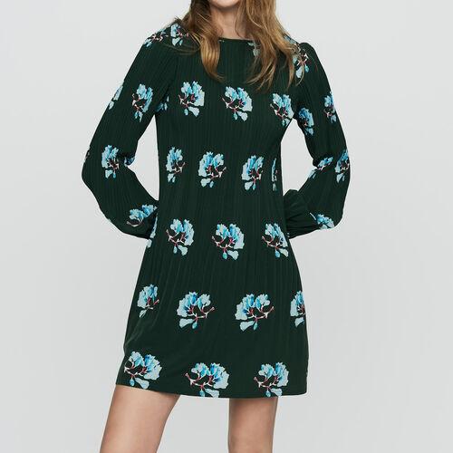 Vestito plissettato con stampa florelae : Vestiti colore IMPRIME