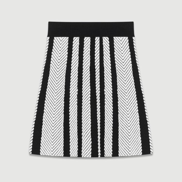 Gonna a trapezio in maglia : Gonne e shorts colore Multicolore