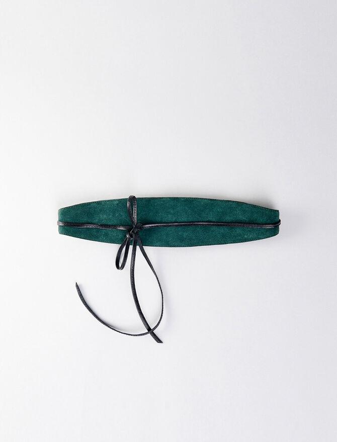 High-waisted suede belt - Cinture - MAJE