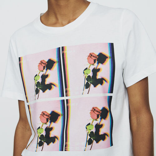 Tee-shirt stampata : T-Shirts colore Bianco
