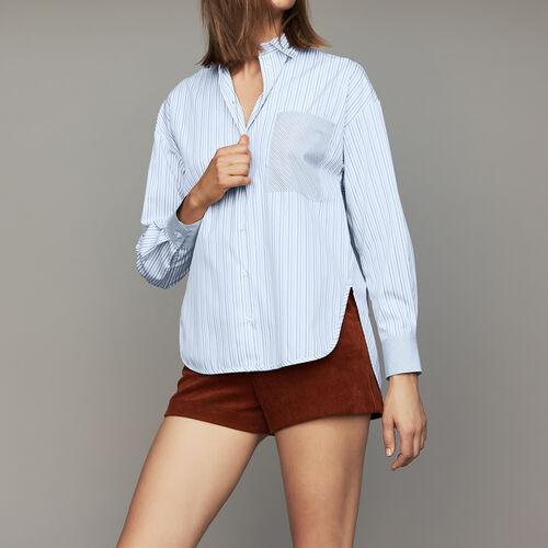 Camicia a righe in cotone : Camicie colore A Righe
