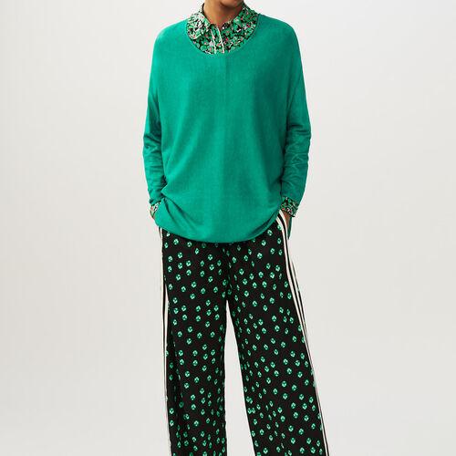 Pull oversize in seta e cachemire : Pullover e cardigan colore VERT
