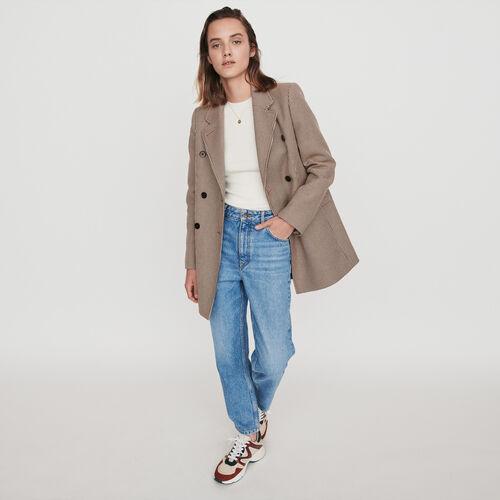 Cappotto stile giacca a quadri : Cappotti e Giubbotti colore Cammello