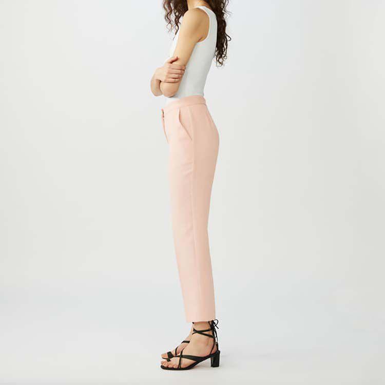 Pantaloni dritti tipo tailleur : Pantaloni colore Rosa