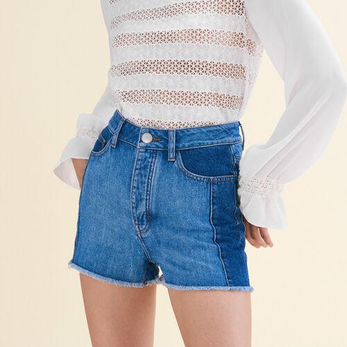 Short in denim stile patchwork - Gonne e shorts - MAJE