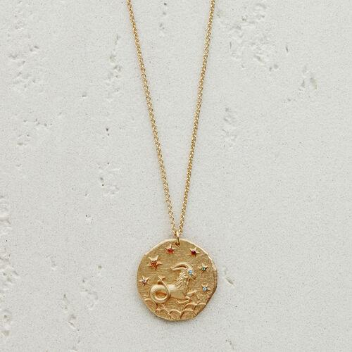 Collana con medaglia segno astrologico : Gioelli colore OR