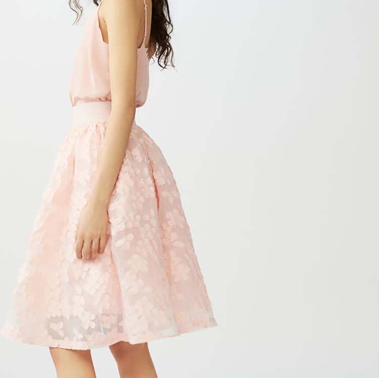 Gonnellone in maglia tecnica : Vedi tutto colore Rosa