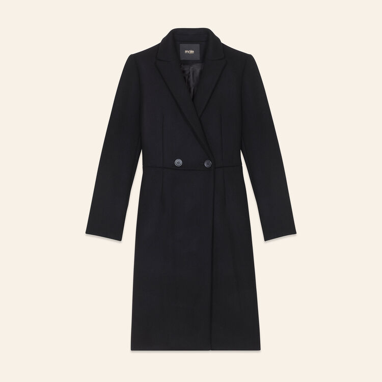 Redingote longuette in lana : Cappotti colore Nero