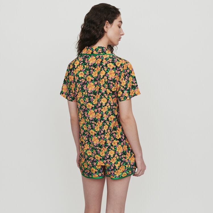 Camicia stampata stile pigiama : Tops e Camicie colore Stampato