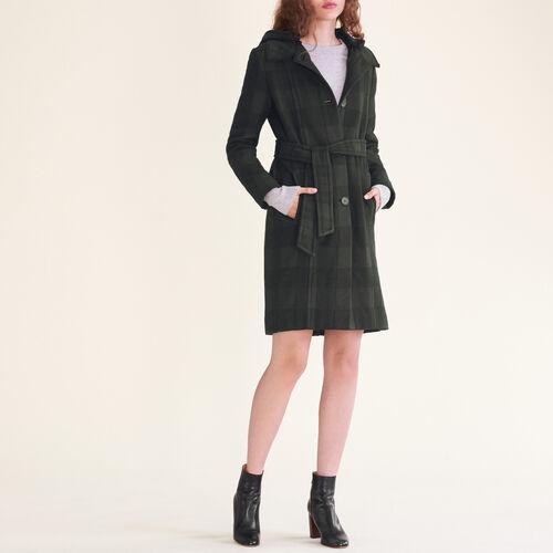 Cappotto lungo a quadri - prêt-à-porter - MAJE