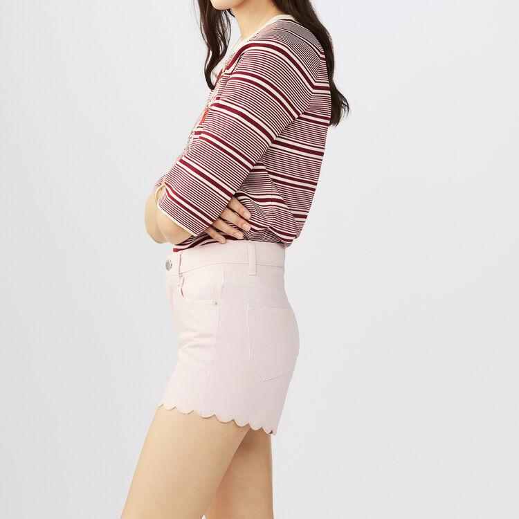 Pantaloncini in jeans con intagli : Gonne e shorts colore Rosa