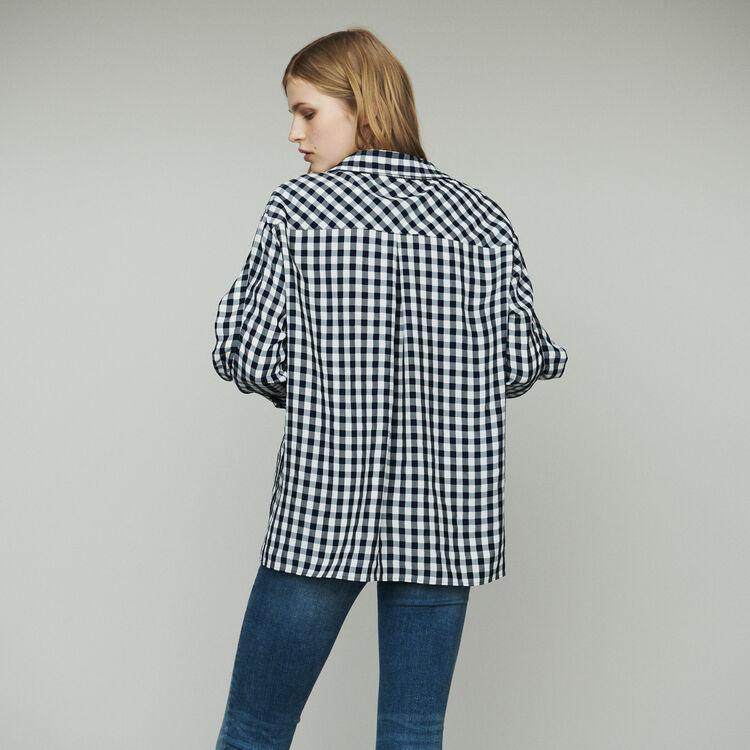 Camicia stampata vichy : Tops e Camicie colore CARREAUX