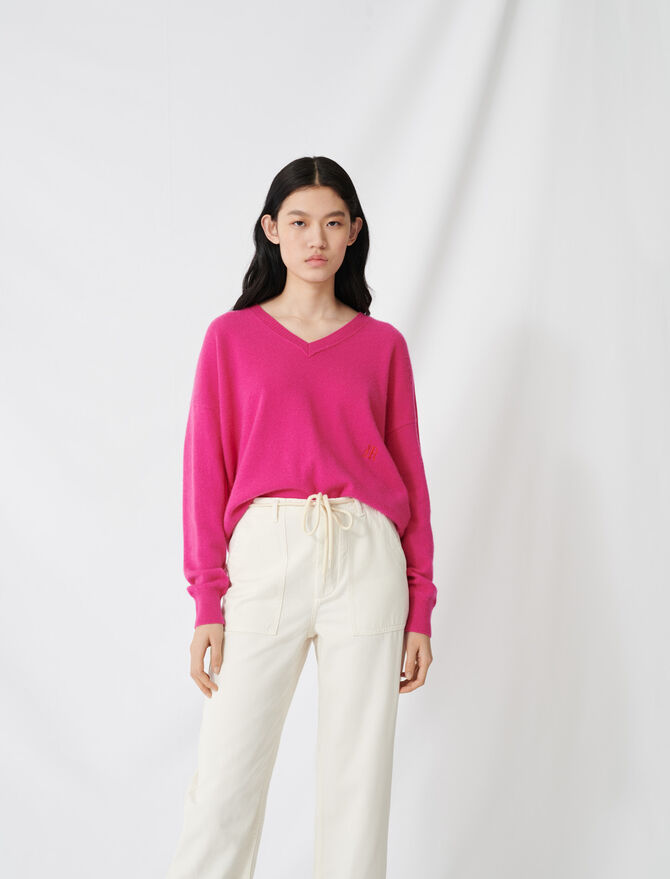 Maglione con collo a V in cachemire - Pullover e cardigan - MAJE