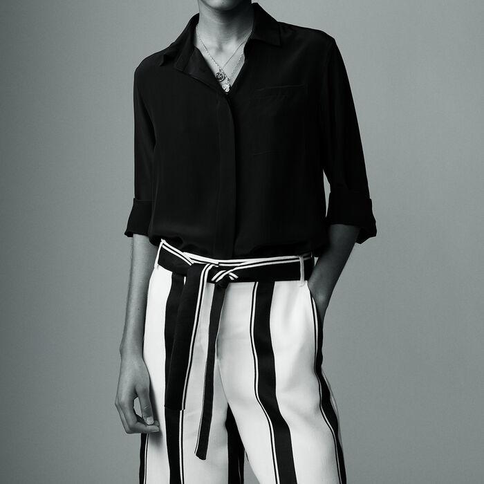 Silk shirt : Camicie colore Nero