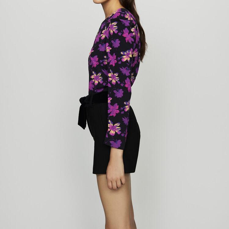Top in crêpe con stampa floreale : Tops colore Stampato