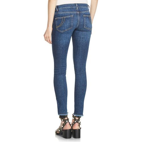 Slim jeans with fringe : Pantaloni & jeans colore Blu