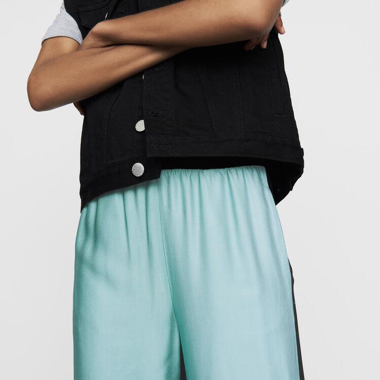 Pantalone largo multicolore : Prêt-à-porter colore Multicolore