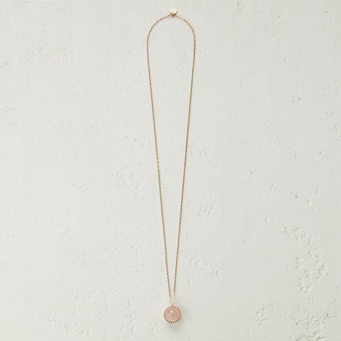 Collana con sfera in pietra naturale : Gioelli colore Rosa Tenue