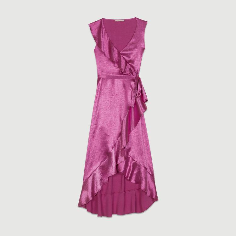 Vestito a portafoglio senza maniche : Vestiti colore Fucsia