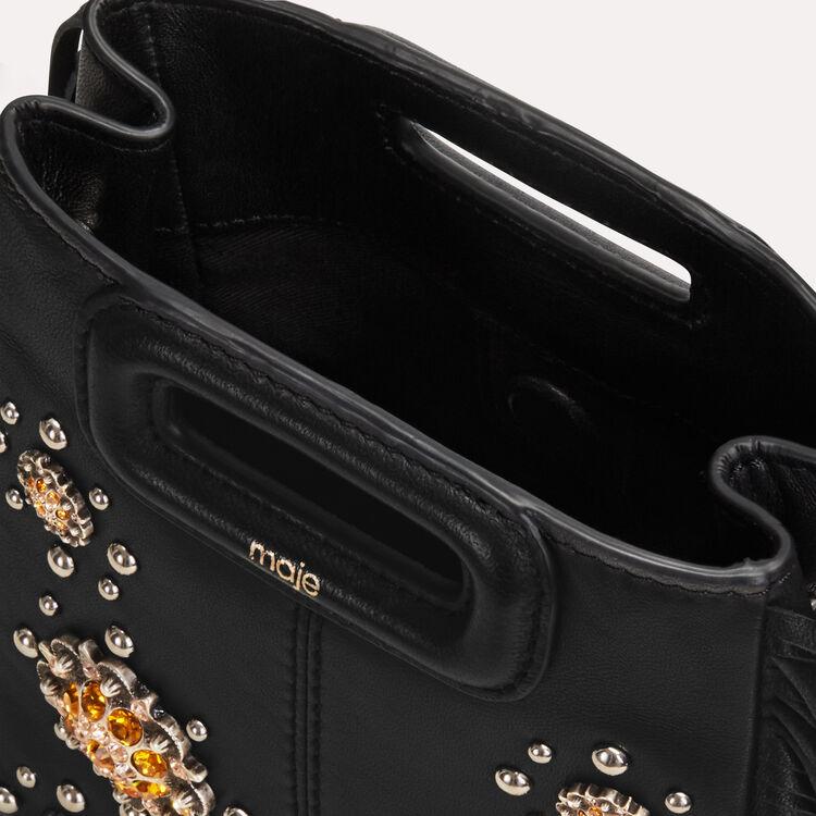 Mini-borsa M in pelle con borchie : M Mini colore Nero