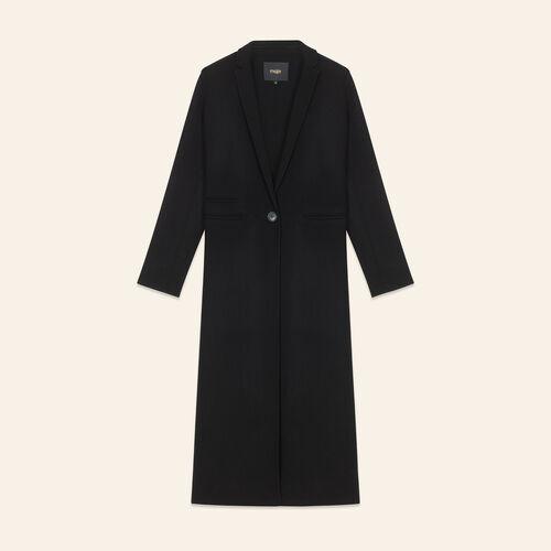 Cappotto lungo in lana double face : LAST CHANCE colore Nero