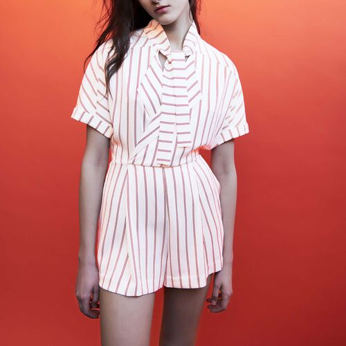 Striped playsuit : Gonne e shorts colore A Righe