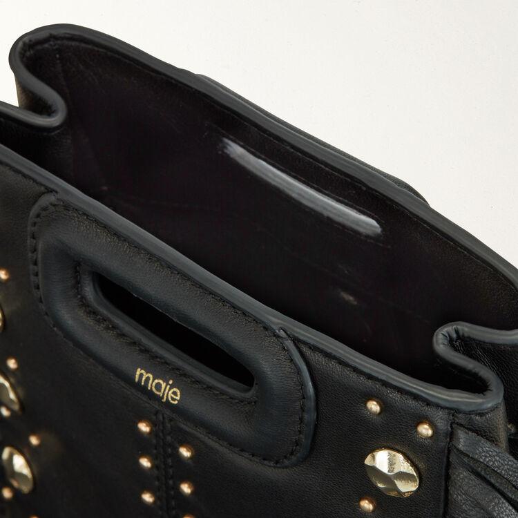 Borsa M Mini in pelle e borchie : M Mini colore NERO