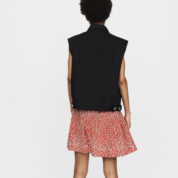 Giacca di jeans senza maniche : Prêt-à-porter colore Nero