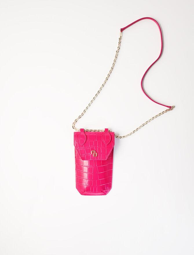 Porta-telefono stile coccodrillo - Bags and small leather goods - MAJE