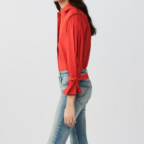 Camicia con dettagli lavorati : Tops colore Rosso