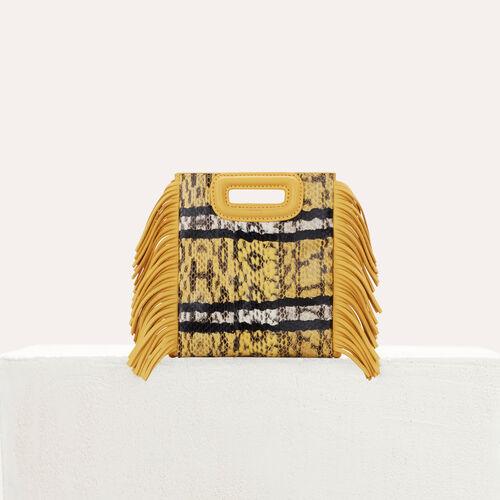 M Mini bag in water snake : M Mini colore Giallo