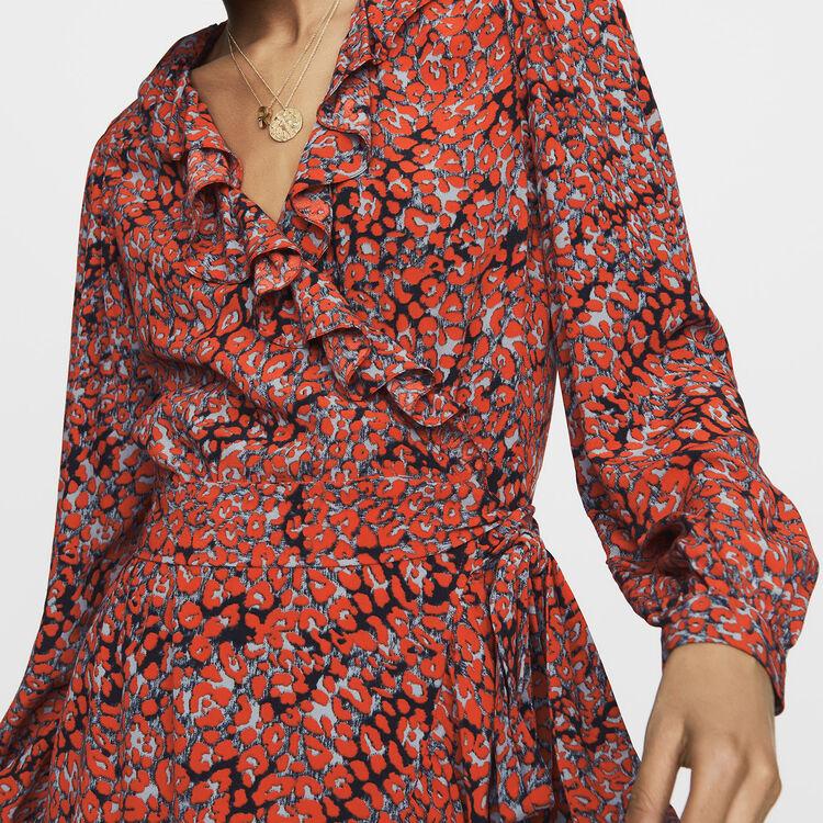 Vestito a portafoglio : Nuova Collezione colore IMPRIME