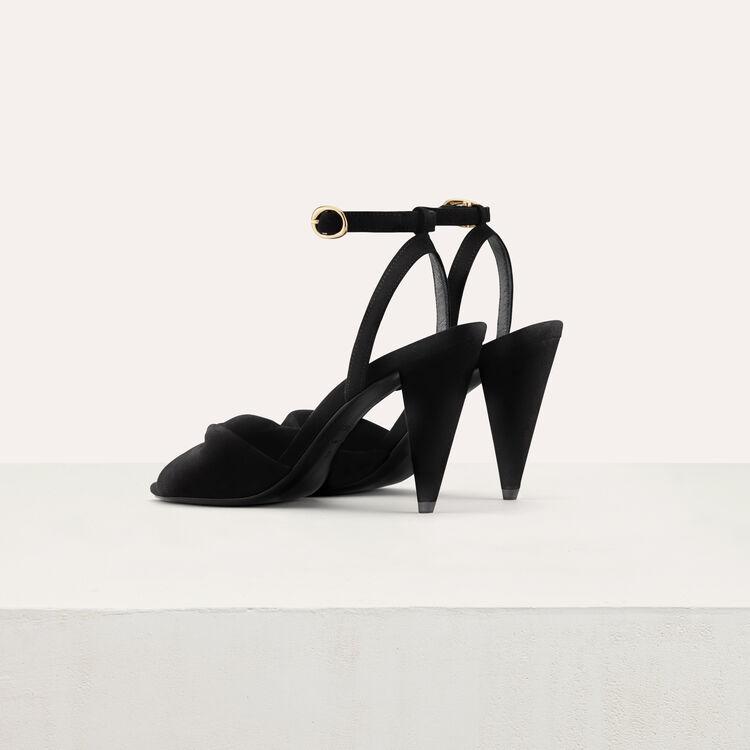 Leather high heals sandals : Scarpe colore Nero