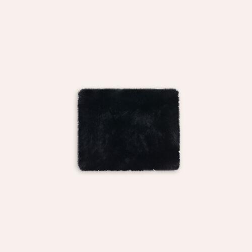 Girocollo in coniglio : Accessori colore Nero
