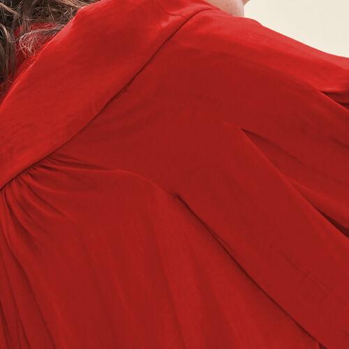 Camicia fluida in crêpe : Tops colore Rosso