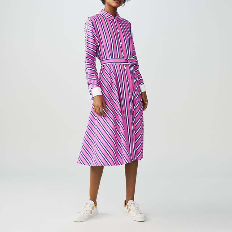 Scamiciato lungo a righe : Vestiti colore A Righe