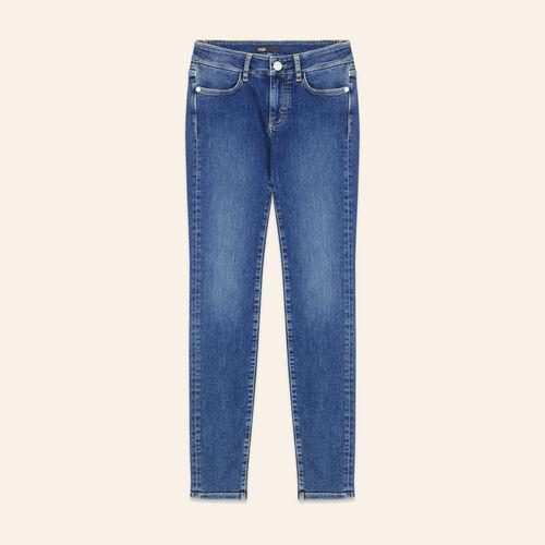 Jeans slim délavé : Pantaloni e jeans colore Blu