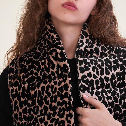 Sciarpa matelassé stampa leopardo - Sciarpe e Foulard - MAJE