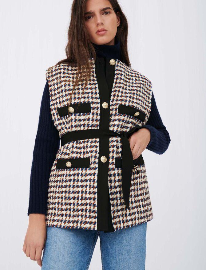 Giacca stile tweed ispirazione cardigan - Pullover e cardigan - MAJE