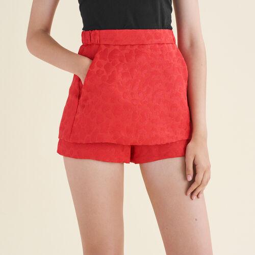 Short in jacquard con motivi leopardati : Gonne e shorts colore Jacquard