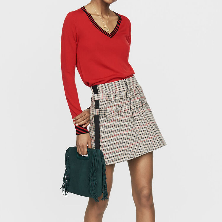 Maglia fine in lana merinos : Nuova Collezione colore Rosso
