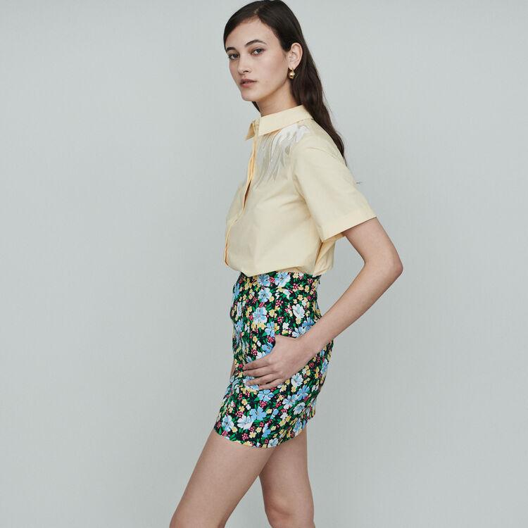 Gonna corta con stampa floreale : Gonne e shorts colore IMPRIME