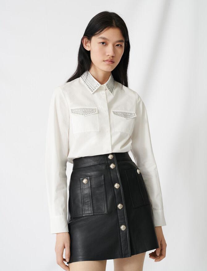 Camicia in popeline con borchie - Tops e Camicie - MAJE