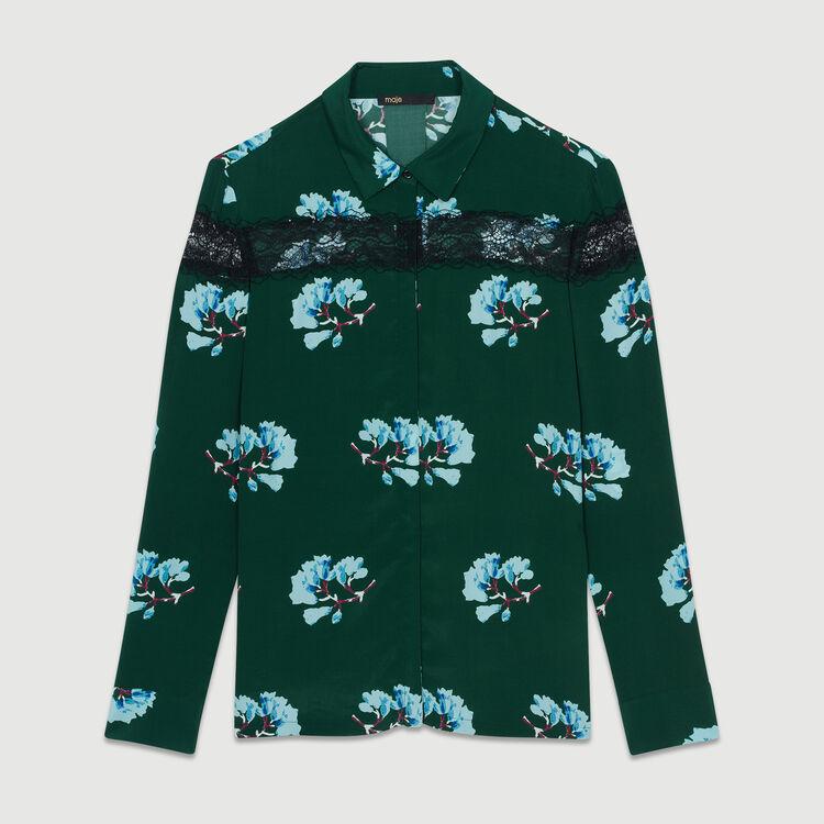 Camicia stampata con pizzo : Camicie colore Stampato